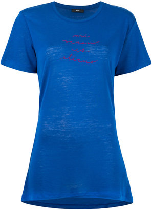 Diesel 'T-Sully' long embroidered T-shirt $55.56 thestylecure.com