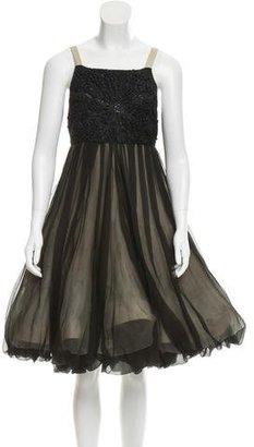 Vera Wang Embellished Sleeveless Dress $175 thestylecure.com
