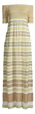 M Missoni Off-The-Shoulder Maxi Dress