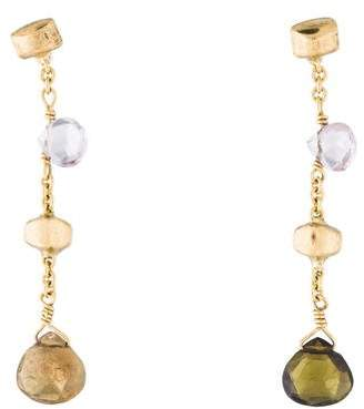 Marco Bicego 18K Tourmaline & Amethyst Drop Earrings