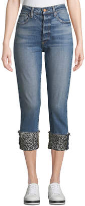 Alice + Olivia Ao.La By Alice+Olivia Amazing High-Rise Girlfriend Jeans with Cuffs