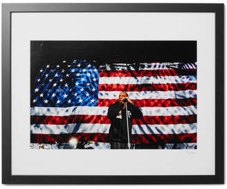 Sonic Editions Framed 2012 Jay-z In Columbus Print, 16 X 20