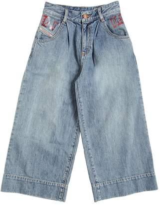 Diesel Wide Leg Cotton Denim Jeans