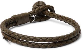 Bottega Veneta Intrecciato Leather Bracelet - Men - Green
