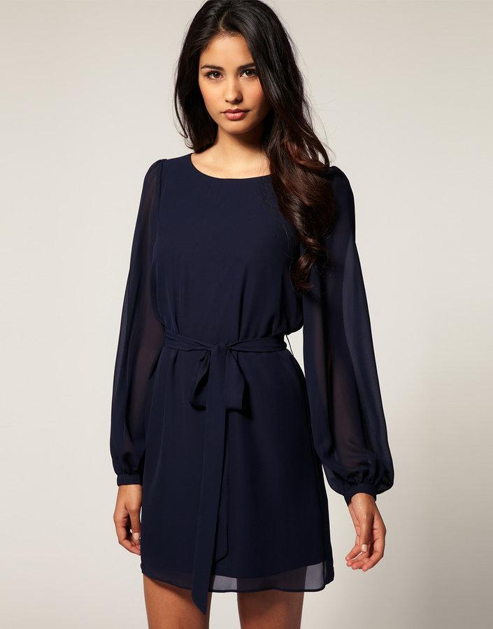 ASOS Shift Dress with Blouson Bell Sleeve