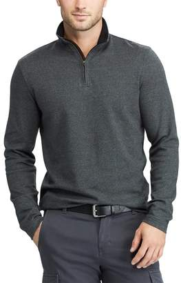 Chaps Men's Classic-Fit Herringbone Quarter-Zip Pullover