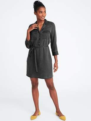 Old Navy Utility Tie-Belt Shirt Dress for Women