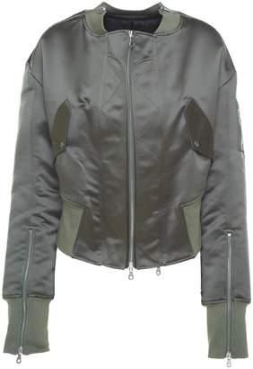 Rokh Zip-detail Satin Padded Bomber Jacket
