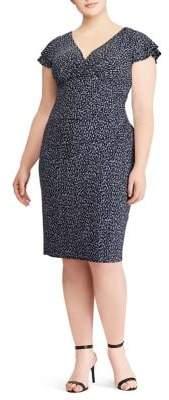 Plus Jersey Flutter-Sleeve Dress