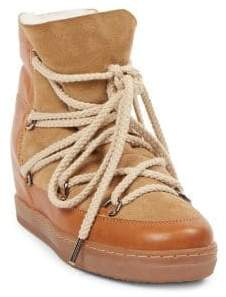 Isabel Marant Nowles Shearling Snow Booties