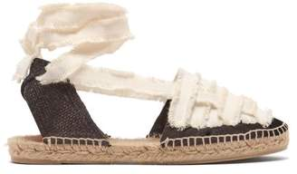Castaner Jean Cotton Canvas Espadrilles - Womens - Black