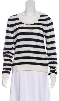 See by Chloe Striped Scoop Neck Sweater