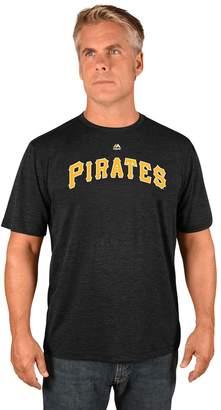 Majestic Men's Pittsburgh Pirates Synthetic Wordmark Tee