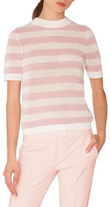 Akris Punto Stripe Cotton Sweater
