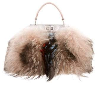 Fendi Fur Mini Peekaboo Bag