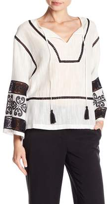 Laundry by Shelli Segal Long Sleeve Embroidered Top