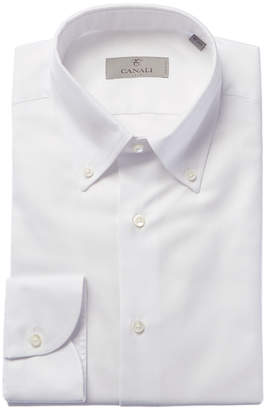 Canali Slim Fit Woven Dress Shirt