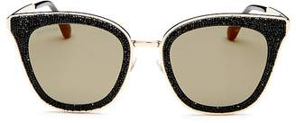 Jimmy Choo Lizzy Glitter Cat Eye Sunglasses, 50mm