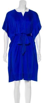 Diane von Furstenberg Sash Tie Knee-Length Dress