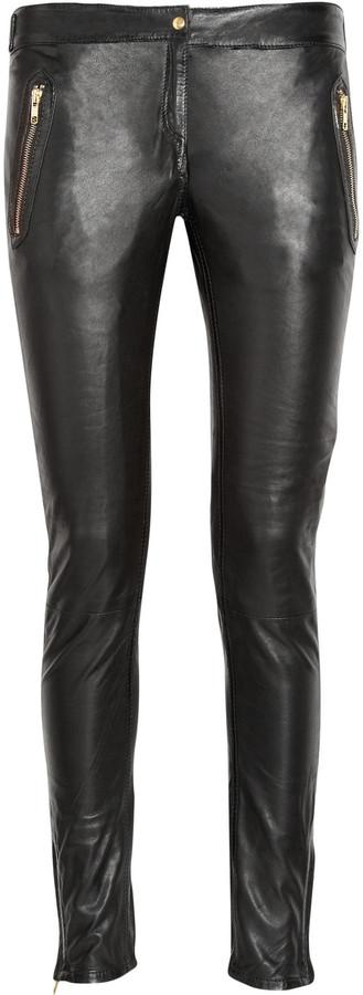 Sandro Possible leather biker pants
