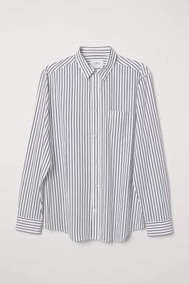 H&M Poplin Shirt - White