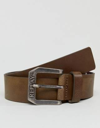 Replay Brown Leather Belt