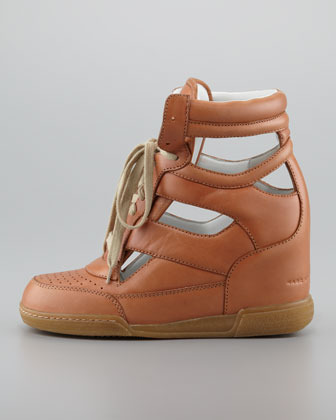 Marc by Marc Jacobs Cutout Wedge Sneaker, Nude