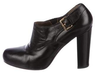 Marni Round-Toe Leather Booties
