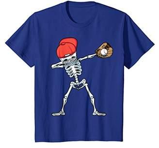 Dabbing Baseball Skeleton T Shirt Funny Halloween Dab Gifts