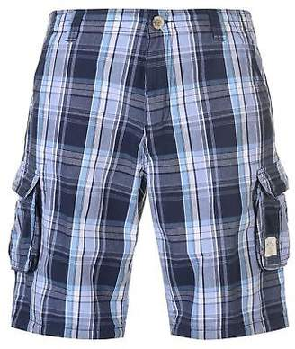 Soul Cal SoulCal Mens Checked Cargo Shorts Pants Trousers Bottoms Zip Pattern
