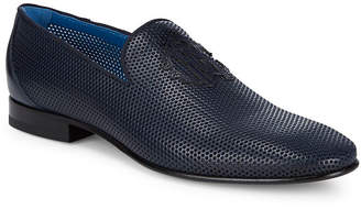 Roberto Cavalli Perforated Leather Loafer