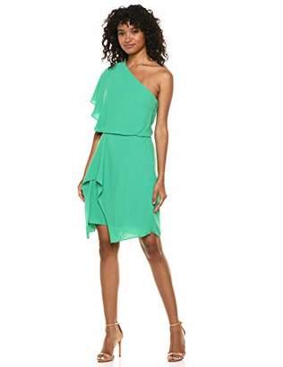Halston Women's Flowy ONE Shoulder Dress,0