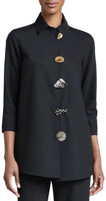 Caroline Rose Stretch-Gabardine Travel Jacket $240 thestylecure.com