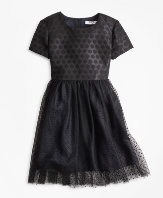 Brooks Brothers Girls Polka Dot Tulle Dress