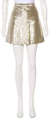 Alice + Olivia Mini Metallic Skirt