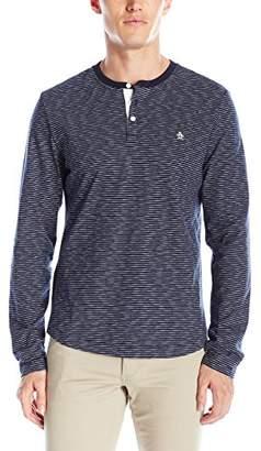Original Penguin Men's Stripe Long Sleeve Henley Shirt