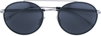 Boss Hugo Boss round frame bar sunglasses $328.02 thestylecure.com
