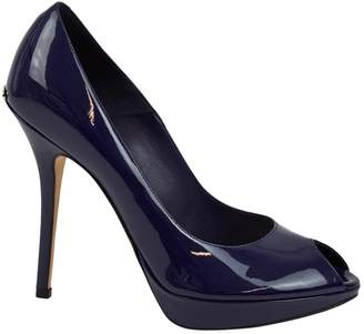 Christian Dior Navy Patent leather Heels