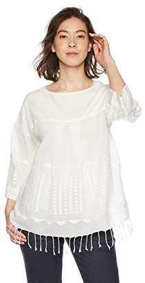 goa (ゴア) - [goa] INDIA ジャムダニ風刺繍 カフタンブラウス レディース 21813183 オフホワイト 日本 FREE (FREE サイズ)