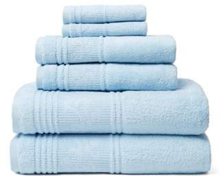 Leila Lintex 6-Piece 100% Turkish Cotton Bath Towel Set, Blue