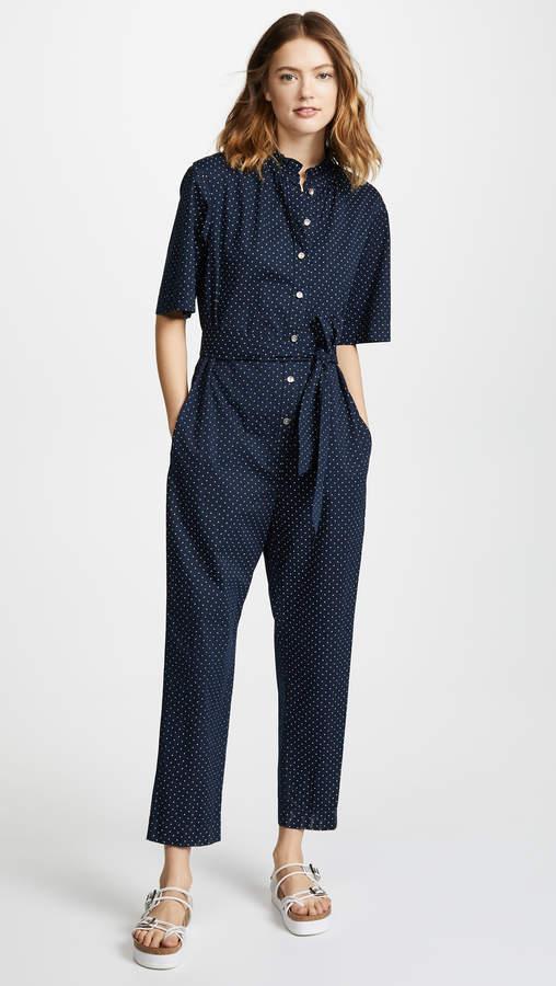 Short Sleeve Dahlia Dot Jumpsuit