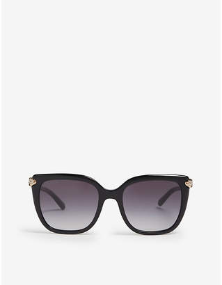 Bvlgari Ladies Black Classic Bv8207 Square-Frame Sunglasses
