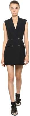 Alexander McQueen Viscose Blend Crepe De Chine Mini Dress