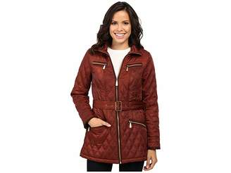 Vince Camuto Belted Quilted Jacket L8101 Women's Coat