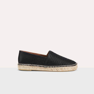Maje Leather espadrilles with embroidery