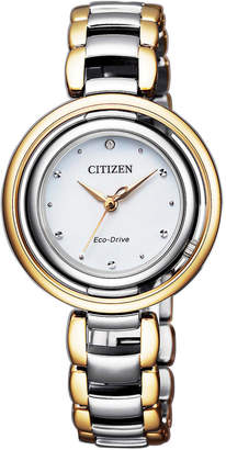 Citizen Dress Two Tone Watch EM0664-84A