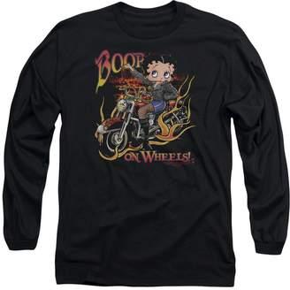 Betty Boop Trevco Cartoon On Wheels Adult Long Sleeve T-Shirt Tee