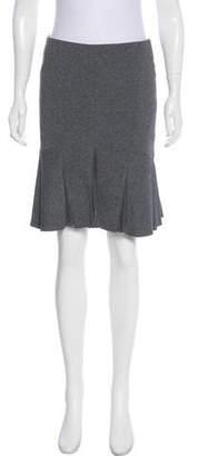 Herve Leger Flounce Mini Skirt