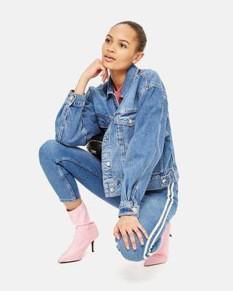 Topshop Jamie High Rise Skinny Jeans with Stripe Details