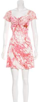 Just Cavalli Short Sleeve Mini Dress